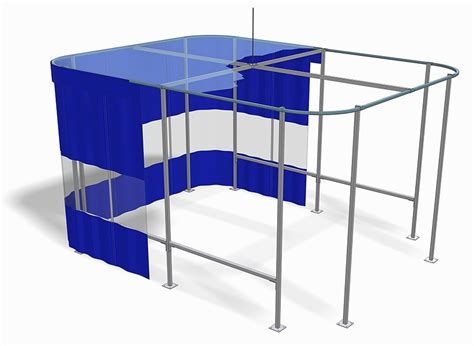 free standing curtain system custom industrial curtain enclosures