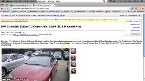 craigslist chicago  cars appliances  furniture  sale  owner deals   youtube