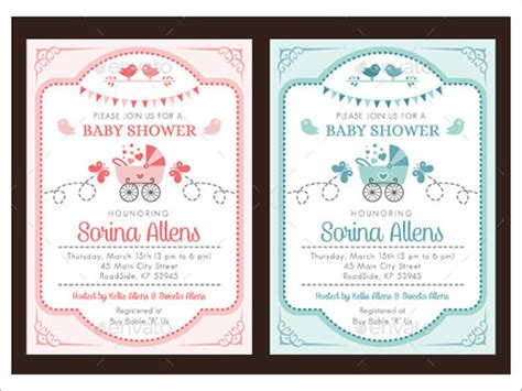 free baby shower invitations templates pdf sle invitation template premium and free