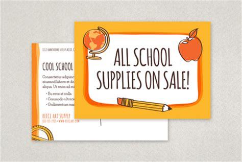 Fun Back To School Postcard Template Inkd Back To School Postcard Template