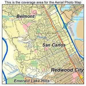 san carlos california map aerial photography map of san carlos ca california