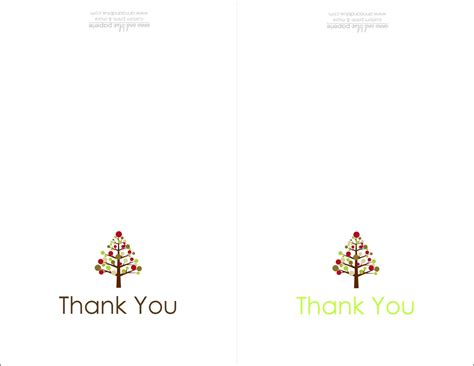 Thank You Card Template With Tree by Best Ideas Thank You Cards Printable Free White Color