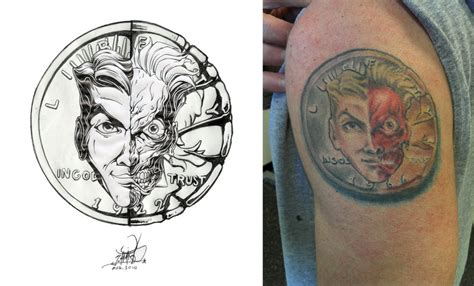two face tattoos two coin by pnutink on deviantart