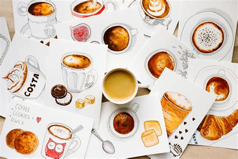 The Illustrations Below Show How Coffee Is Sometimes Produce Testbig by And Easy Watercolors Draw A Beautiful Coffee Illustration Mariya Popandopulo Skillshare