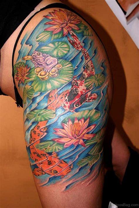koi fish thigh tattoo 57 ultimate fish tattoos for thigh