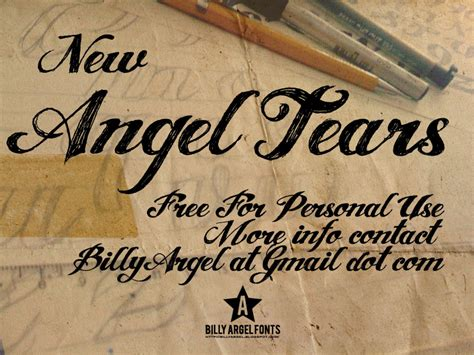 tattoo font angel tears angel tears font dafont com