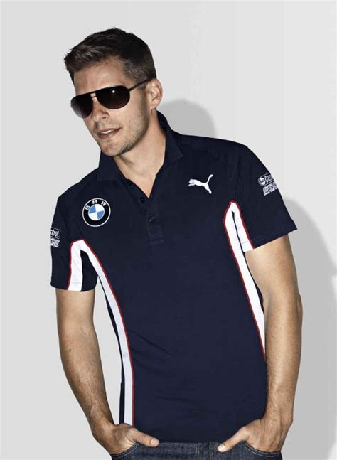 Bmw 2 Sides Tshirt Size L bmw genuine motorsport collection mens dtm team polo t shirt blue ebay