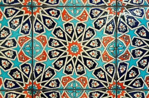 islamic pattern tiles decorative wall tile with islamic geometry pattern stock