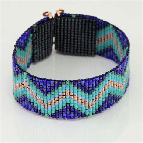 indian bead loom the blues zig zag tribal style bead loom bracelet