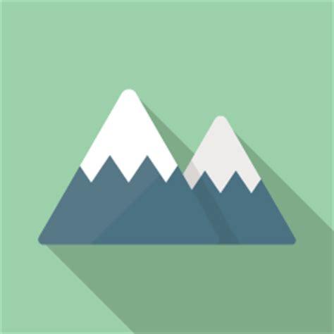 icon design com 山のフラットアイコン素材 flat icon design フラットアイコンデザイン