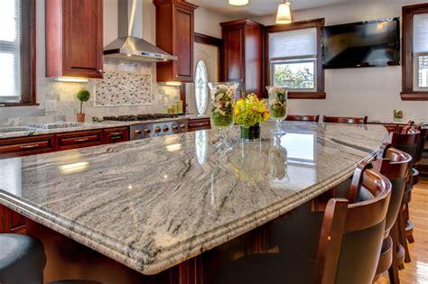 Cherry Wood Kitchen Cabinets With Black Granite Viscont White Granite Countertop Installation In Wanaque Nj