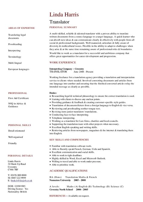 Interpreter Resume by Interpreter Resume Sle Best Professional Resumes