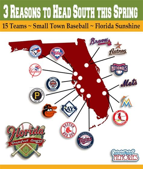 grapefruit league map 3 reasons to to florida for grapefruit league baseball