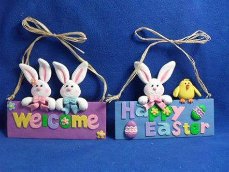 Easter Handmade Crafts - polymer clay handmade craft rabbit for easter gift id