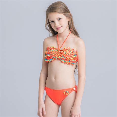 child girl swimwear bikinis cute applique child girls swimwear bikini nowsel