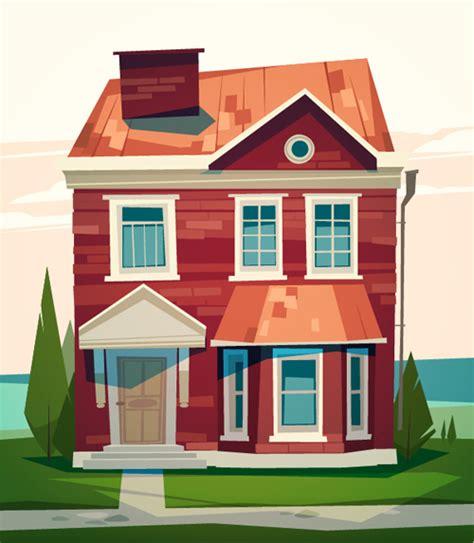 cartoon simple house  vector