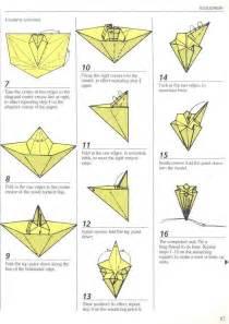 Origami Flower Diagram - traditional japanese kusudama