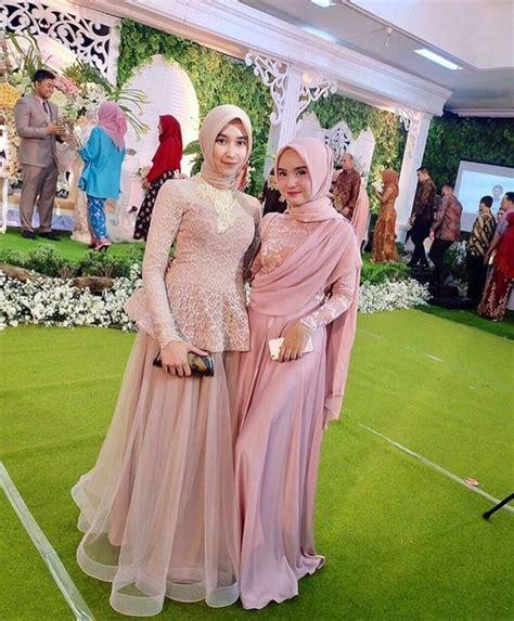 Baju Muslim Elmeira model baju muslim pesta modern brokat