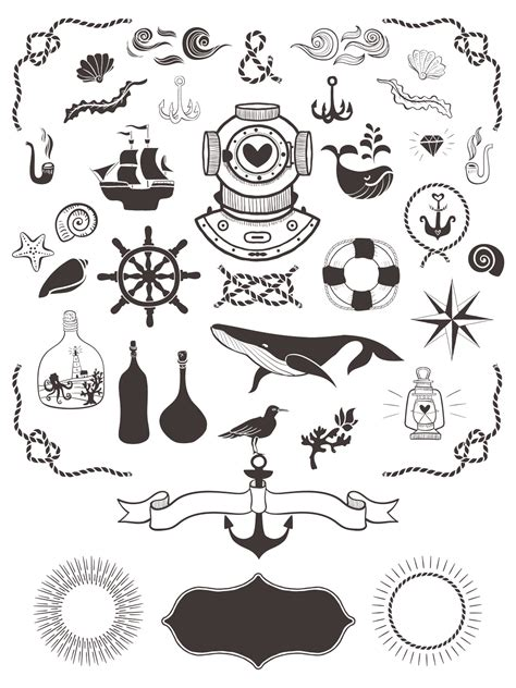 nautical designs 40 free nautical vector elements graphicsfuel