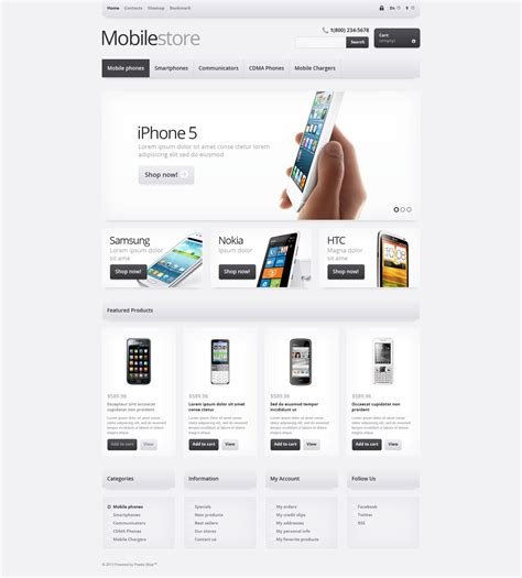 web layout view definition responsive mobile store prestashop theme 44698