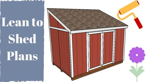 build  lean  shed youtube