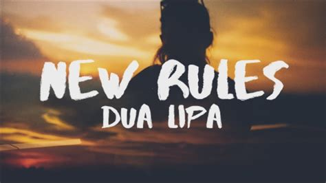 dua lipa new rules bpm dua lipa new rules lyrics lyric video youtube