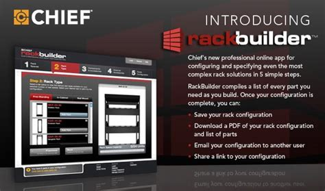 Rack Builder by Build Innovative Rack Solutions With Chief S All New Rackbuilder Digital Smart Homes News