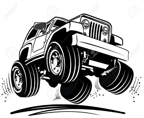 jeep cartoon offroad four wheel clipart clipground