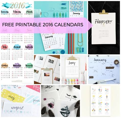 printable calendar 2016 au nine awesome free 2016 printable calendars fat mum slim
