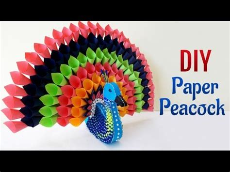 How To Make A Peacock Out Of Paper - diy paper craft projects how to make multicolored paper