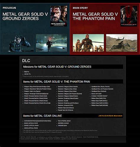 Kaset Ps4 Metal Gear Solid V The Definitive Experience sortie de la bande annonce du lancement de metal gear solid 5 the definitive experience
