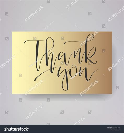 Handwritten Thank You Card Template by Wedding Typography Templates Vector Written Stock