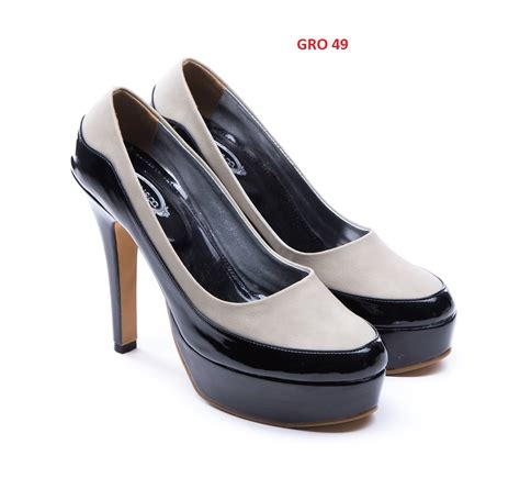 Sepatu Combination sepatu hak tinggi gudang fashion wanita