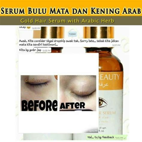 Dan Kegunaan Serum Gold cik bebeq shop gold hair serum with arabic herbs