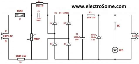 capacitor voltage transformer circuit transformerless power supply
