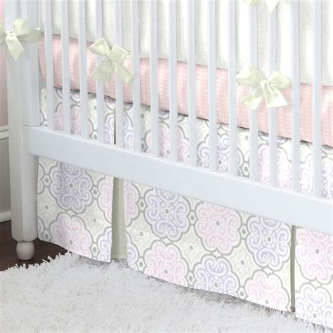 Floral Crib Bedding Set Pink Modern Floral 2 Crib Bedding Set Carousel Designs