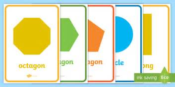 Shape 2 D 2d shape posters shape poster shape flashcards shape