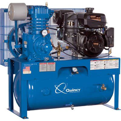 quincy compressor qp pressure lubricated air compressor 14hp kohler gas engine ebay