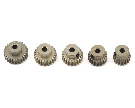 3racing Pinion Gear 48 Pitch 18t 5 pack 48p aluminum pinion gear even pack 18 20 22 24 26t