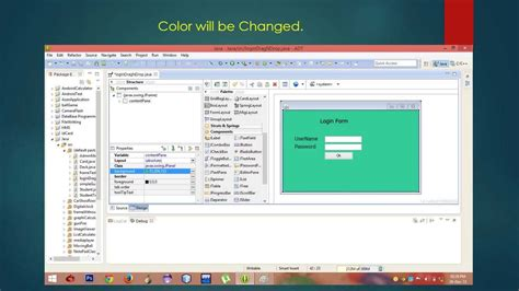 drag and drop java swing gui using drag and drop tool graphical user interface in