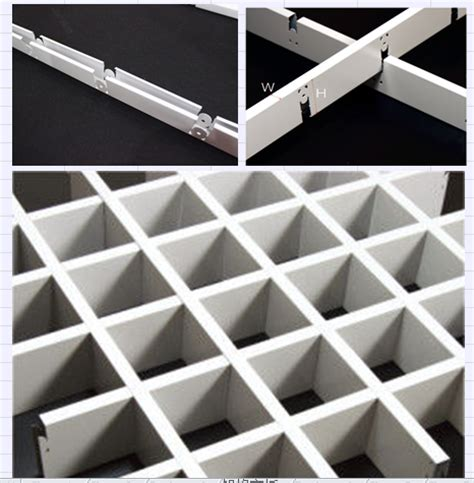 Metal Suspended Ceiling Open Cell Rectangle Metal Grid Ceiling Lightweight For