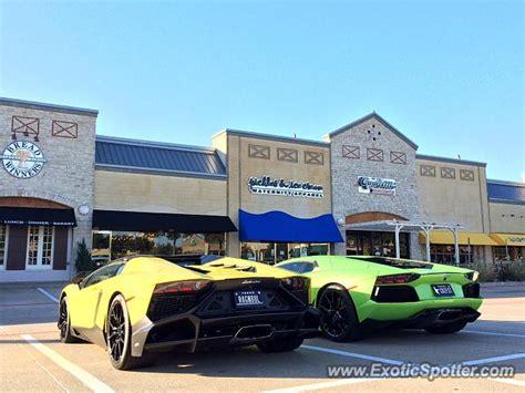 Lamborghini Dallas Tx Lamborghini Aventador Spotted In Dallas On 11 01 2014