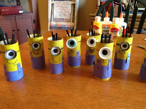 Minion Toilet Paper Roll Craft - diy easy minion craft cheap and easy toilet