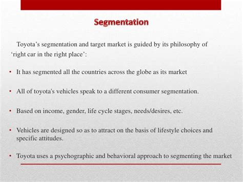 Toyota Marketing Strategy Toyota Marketing Services