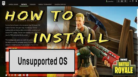 How To Install Fortnite With Unsupported OS   YouTube