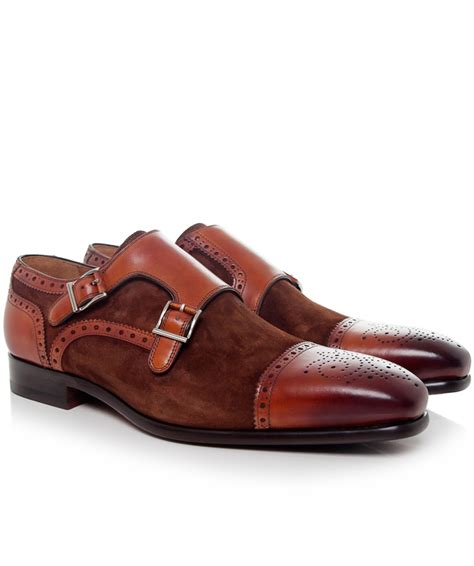 light brown monk shoes magnanni monk shoes in brown for light