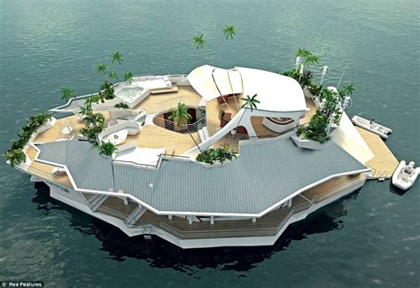 land ahoy incredible floating island offers the - Floating Boat Island