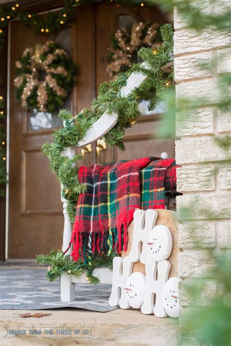 Front Porch Christmas Decor decorating your front porch for christmas bigger than