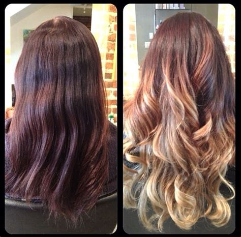 balayage highlights before and after home kit balayage highlights ombre effect before and after yelp