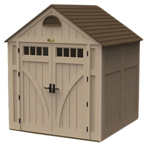 Suncast Shed Reviews by Suncast 7 Ft W X 7 Ft D Highland Resin Storage Shed